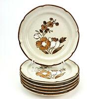Vintage Baroque Hearthside Stoneware Salad Plates Japan Set of 6