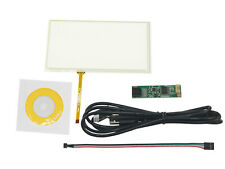 6.2inch 4 Wire Resistive Touch Screen Digitizer 155x88mm USB Driver Card Kit