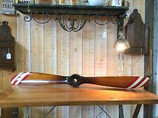 Hélice d'avion en bois pales à 5 bandes rouge et blanc 120 cm