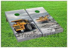 VINYL WRAPS Cornhole Boards DECALS Consruction Vehicles Toss Game Stickers 329