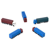 5pcs Painted Model Cars Truck Building Parking Diorama Scene Scale Z N 1:200