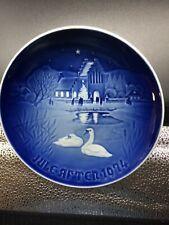 """ROYAL COPENHAGEN 1974""""Christmas in the Village"""" Denmark Christmas 7""""  Plate"""