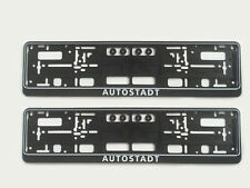 2x AUTOSTADT Kennzeichenhalter Volkswagen 4MOTION R32 GTI R VW -MADE IN GERMANY-