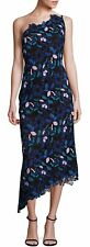 NWT Laundry by Shelli Segal Women's One Shoulder Embroidered Floral Lace Dress