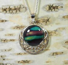 """Heather """" Celtic Disc """" Pendant Handmade & Silver Plated Necklace  HG-7E"""