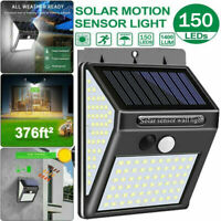 150 LED Outdoor Solar Power Motion Sensor Wall Light Waterproof Garden Yard Lamp