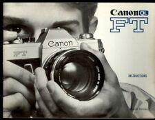 Instructions, Canon QL FT, manuel de 40 pages English édition