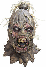 BRAND NEW Zombie Scarecrow DELUXE ADULT LATEX HOODED SCAREBORN MONSTER MASK