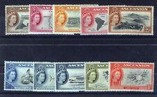 ASCENSION 1956 DEFINITIVES SG57/66  MNH