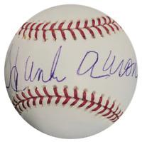 Hank Aaron Autographed Official Major League Baseball (Mounted Memories)