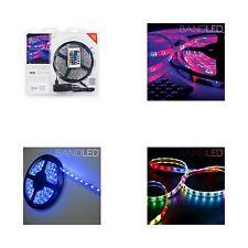 Tira Multicolor 60 Luces LED, 5 m, Mando a distancia por infrarrojos, sumergible