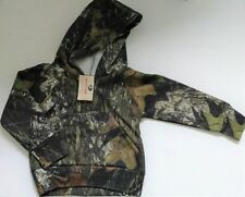 Mossy Oak Camouflage Hoodie Sweat Jacket Pullover - Fleec Camo Toddler Boys