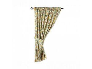 Gallery William Morris Fruits Lined Curtains & Tiebacks