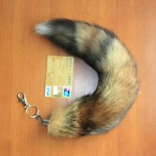 Sexy 38cm Red Fox Tail Fur Handbag Accessory Key Chain Ring Hook Cosplay Toy