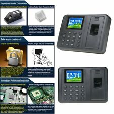"2.8"" TFT Biometric Fingerprint Time Attendance Clock Employee Payroll Recorder"