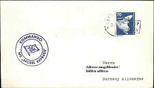 Seepost Stempel Kommando MS MOSEL EXPRESS Brief Shipletter Sea Mail Cover Navire