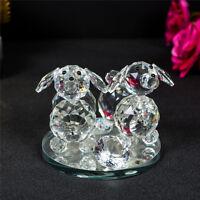 Decorative Valentines Crystal Animal Dog Ornament swarovskl Element Gift Present