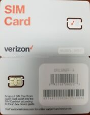 Verizon Nano 4Ff Sim Card Newest Version Cdma 4Glte Prepaid Or Contract