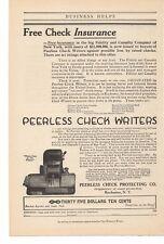 1914 Peerless Check Writers - Peerless Check Protecting Co. Advertisement