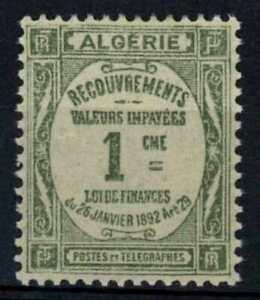 Algeria 1926 SG#D45, 1c Olive-Green Postage Due MH #E91110
