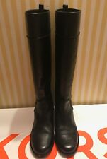 Michael Kors Nicolette Black Leather Women's Knee High Boots, Size 9
