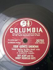 Roy Acuff & Smoky Mountain Boys Vtg 78 RPM Vinyl Record Hillbilly Country Fiddle