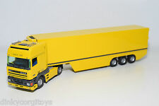 TEKNO DAF 95 SPACE CAB TRUCK WITH TRAILER YELLOW PROMO WERBE VN MINT RARE