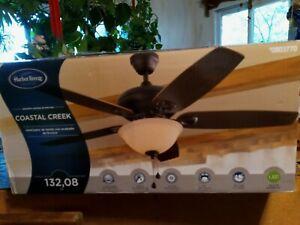 Harbor Breeze Coastal Creek  52-in Bronze LED Indoor Ceiling Fan-Brand New
