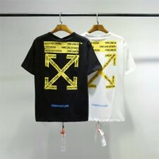 OFF White Men's Short Sleeve T-Shirt Yellow cordon arrow print Tee OW31