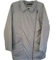 NAU Synfill ASYM Coat Lt Gray Asymmetrical Insulated Lightweight Womens SZ Small