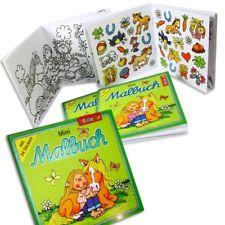 Mini Malbücher Ponyhof, mit Stickern, 4er