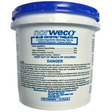 Blue Crystal Chlorine Tablets 1.9 lb Pail Aerobic Septic Systems Tank Cleaner