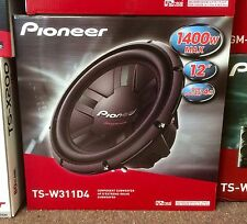 "Pioneer Champion Series TSW311D4 1400 Watts 12"" Dual 4 Ohm Car Subwoofer New"
