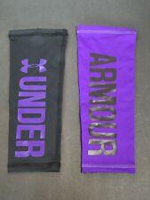 Under Armour Unisex Calf Sleeves Black Purple Heat Gear