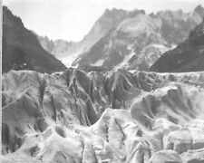 VINTAGE PHOTOGRAPH 1900'S FRANCE MONT BLANC-PART OF MER DE GLACE-GLACIER PHOTO