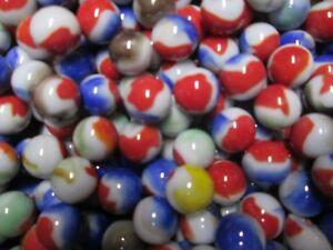 25 Near Mint / Mint Vitro 5/8 Inch Mixed Color Swirl marbles Hard 2 Find