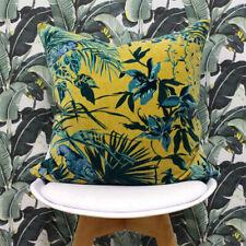 Riva Home Fern Chenille Velvet Woven Piped Cushion Cover