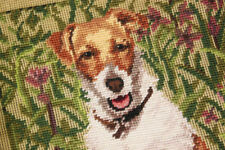 Hand Stitched Preworked Wool Needlepoint Tapestry Canvas So Vivid Beagle