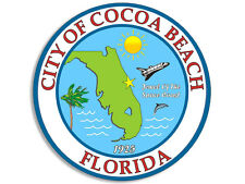 4x4 inch Cocoa Beach City Seal Sticker -decal logo florida fl car bumper window
