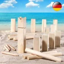 Wurfspiel Outdoor Familienspiel Echtholz Rasenschach Wikingerschach Holz