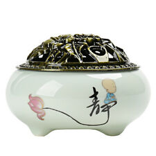 Ceramic Incense Burner Buddhism Holder For Coil Decor Censer For home Office