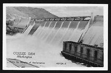 Coulee Dam Photo by Bureau of Reclamation Washington Wa Rppc postcard
