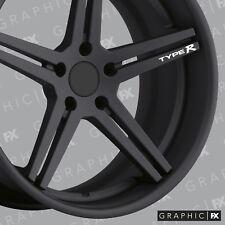 x4 Premium Honda Type R Logo Alloy Wheel Racing Decals - Stickers