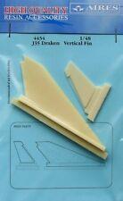 Aires 1/48 J35 pinna verticale DRAKEN per kit Hasegawa # 4434