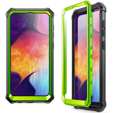 Samsung Galaxy A50 Case Poetic [Hybrid] Clear TPU Bumper Shockproof Cover Green