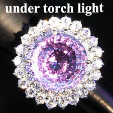 CHANGE BLUE PURPLE SPINEL RING CONCAVE 19.50 CT.SAPP 925 STERLING SILVER SZ 6.25