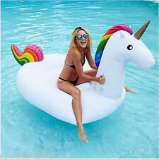 Giant Inflatable UNICORN Blow Up Pool Toy Float Swimming Ride On Beach Summer