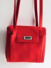 Escada Signature Gorgeous New Red Silk/Satin Long Double Strap Small Evening Bag