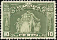 1934 Mint Canada VF Scott #209 10c Loyalists Issue Stamp Hinged