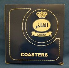 Rare AL FAKHER Blue Drink Coasters- NEW